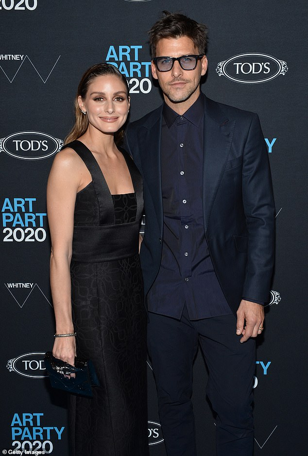 Blissful: Olivia and her husband Johannes Heubl celebrated their six-year wedding anniversary in June (pictured January 2020)