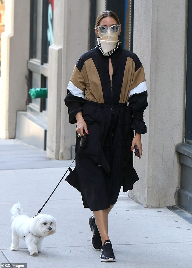 Trendy: Olivia Palermo continued to cement her status as a fashion icon, as she strutted around the Big Apple on Wednesday